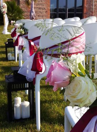 Décoration de chaises pour une cérémonie de mariage en Haute-Garonne (31)